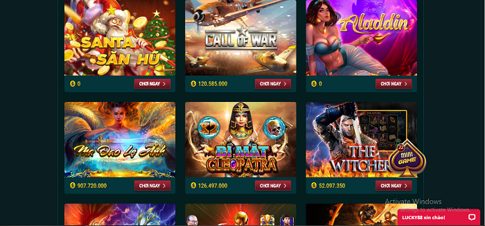 hệ thống game lucky88