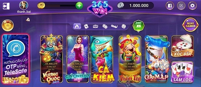 Giao diện game bắt mắt của W365